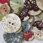 Lace buttons